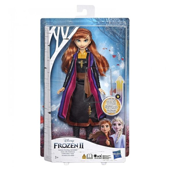 Disney Frozen II Papusa Anna cu Rochie ce se Aprinde 4