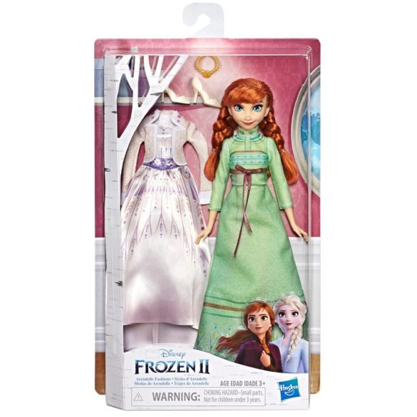 Disney Frozen II Papusa Anna cu Rochie de Schimb 3