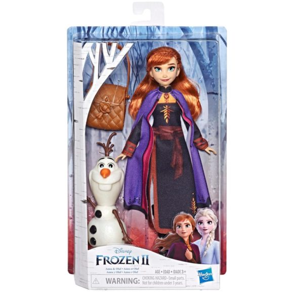 Disney Frozen II Papusa Anna si Figurina Olaf 2