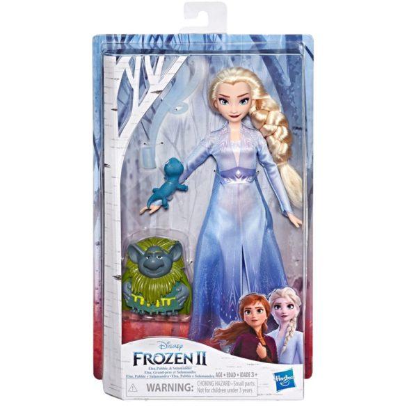 Disney Frozen II Papusa Elsa Figurina Pabbie si Salamander 3