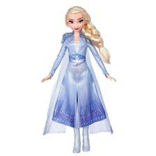 Disney Frozen II Papusa Elsa cu Par Lung si Tinuta Albastra