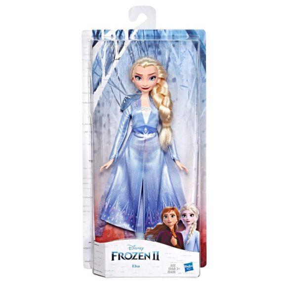 Disney Frozen II Papusa Elsa cu Par Lung si Tinuta Albastra 3