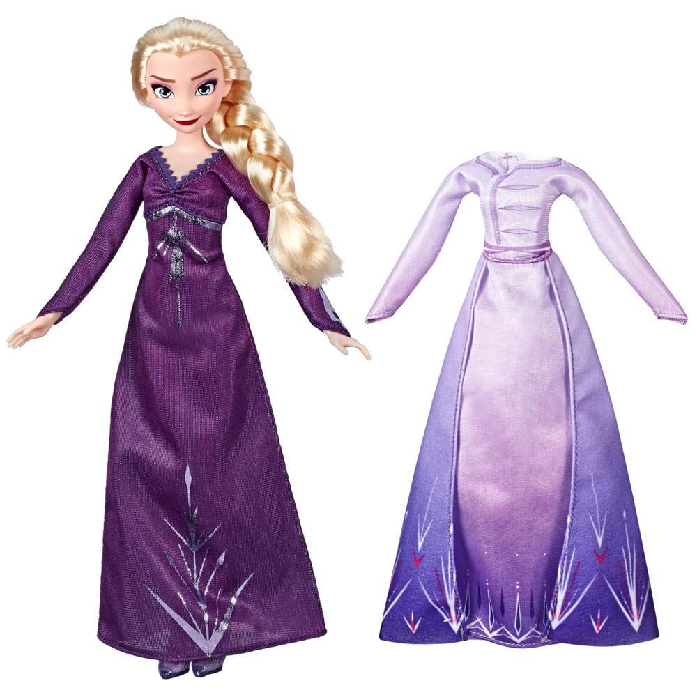 Disney Frozen II Papusa Elsa cu Rochie de Schimb