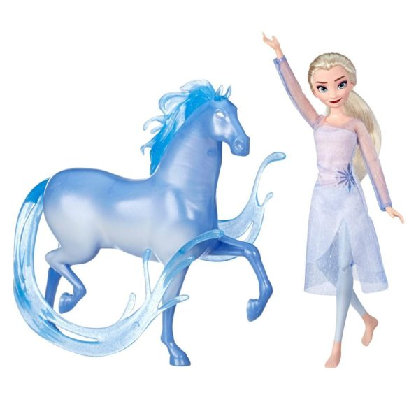 Disney Frozen II Papusa Elsa si Figurina Nokk