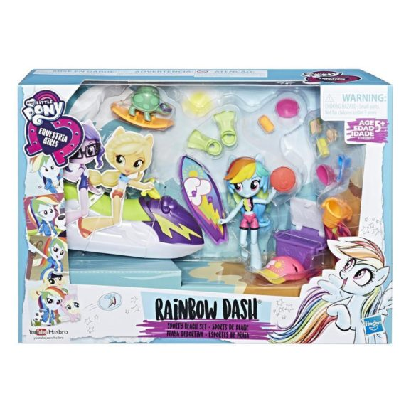 Figurina My Little Pony Rainbow Dash Sporty Beach 9