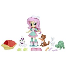 Se My Little Pony Equestria Girls Papusa Fluttershy Pet Spa
