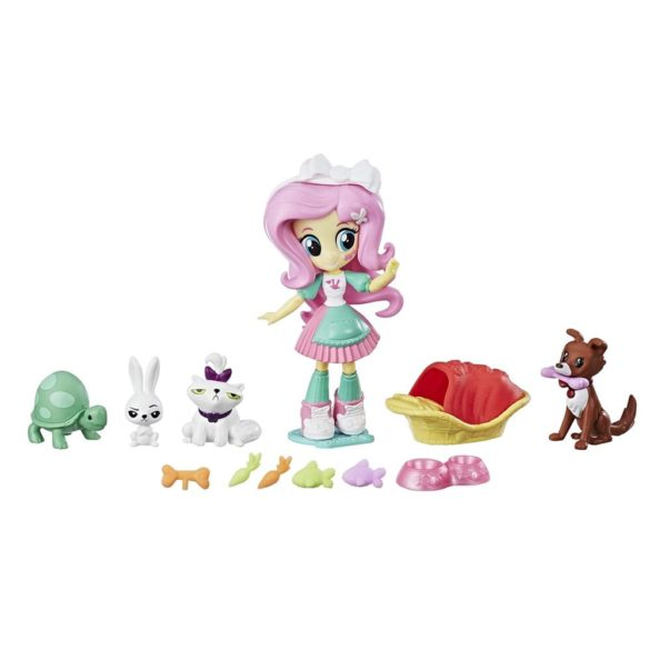 Se My Little Pony Equestria Girls Papusa Fluttershy Pet Spa 2