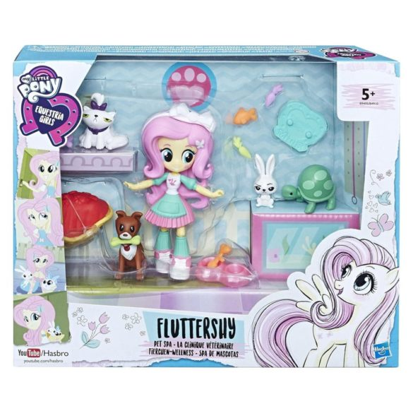 Se My Little Pony Equestria Girls Papusa Fluttershy Pet Spa 3