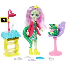 Set de Joaca Enchantimals Cabinetul Dentistului si Papusa Andie Alligator