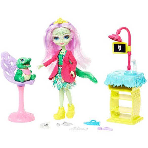 Set de Joaca Enchantimals Cabinetul Dentistului si Papusa Andie Alligator 4