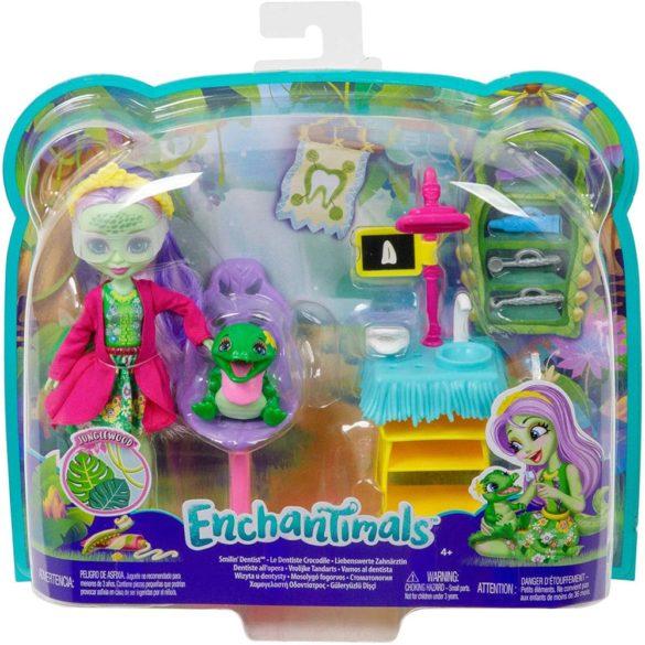 Set de Joaca Enchantimals Cabinetul Dentistului si Papusa Andie Alligator 8