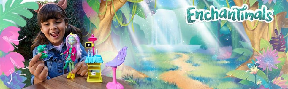 Set de Joaca Enchantimals Cabinetul Dentistului si Papusa Andie Alligator