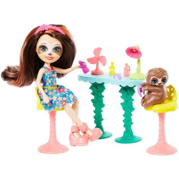 Set de Joaca Enchantimals Salonul de Infrumusetare si Papusa Sela Sloth