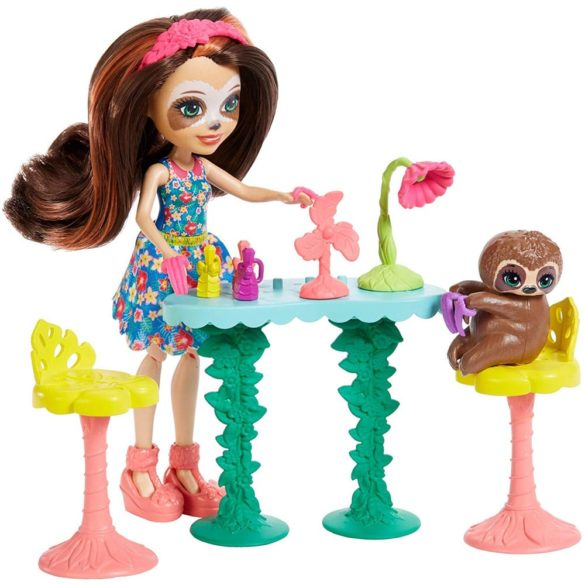 Set de Joaca Enchantimals Salonul de Infrumusetare si Papusa Sela Sloth 4