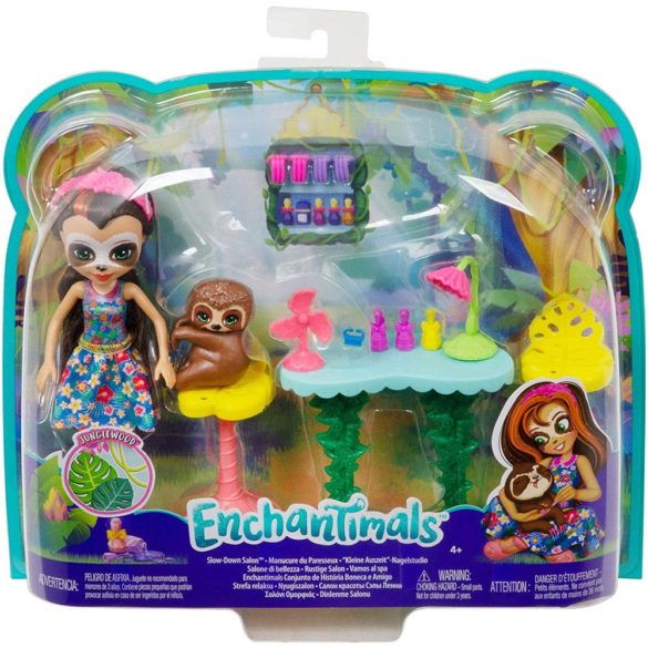 Set de Joaca Enchantimals Salonul de Infrumusetare si Papusa Sela Sloth 8