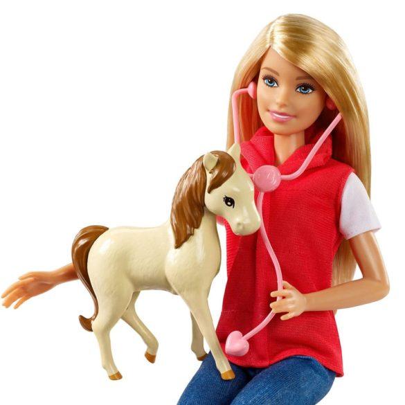 Set de Joaca cu Papusa Barbie Ferma Animalelor 4