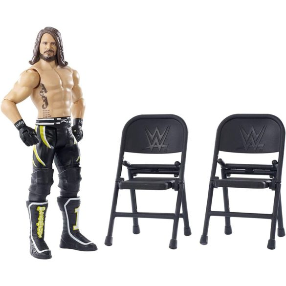 WWE Figurina AJ Styles Colectia Wrekkin Cu 2 Scaune 2
