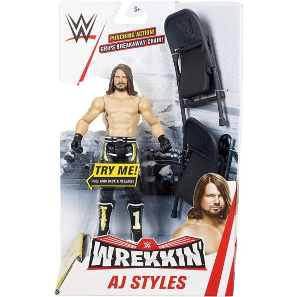 WWE Figurina AJ Styles Colectia Wrekkin Cu 2 Scaune 4