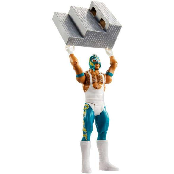 WWE Figurina Rey Mysterio Colectia Wrekkin Cu Scara 2