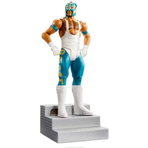 WWE Figurina Rey Mysterio Colectia Wrekkin Cu Scara 3