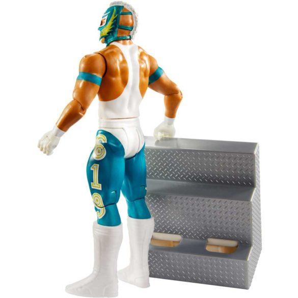 WWE Figurina Rey Mysterio Colectia Wrekkin Cu Scara 4