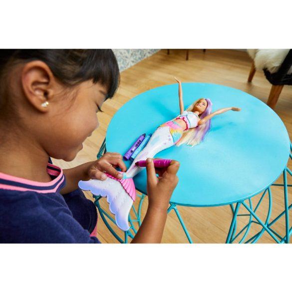 papusa Barbie Crayola Sirena Colorabila GCG67 Dreamtopia Mattel 7