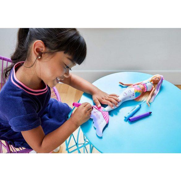 papusa Barbie Crayola Sirena Colorabila GCG67 Dreamtopia Mattel 8