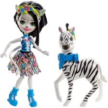 Enchantimals Papusa Zelena Zebra si Figurina Hoofette
