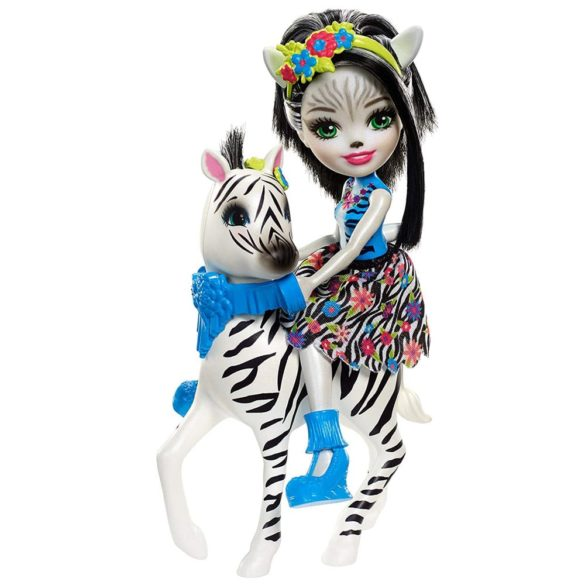 Enchantimals Papusa Zelena Zebra si Figurina Hoofette 6