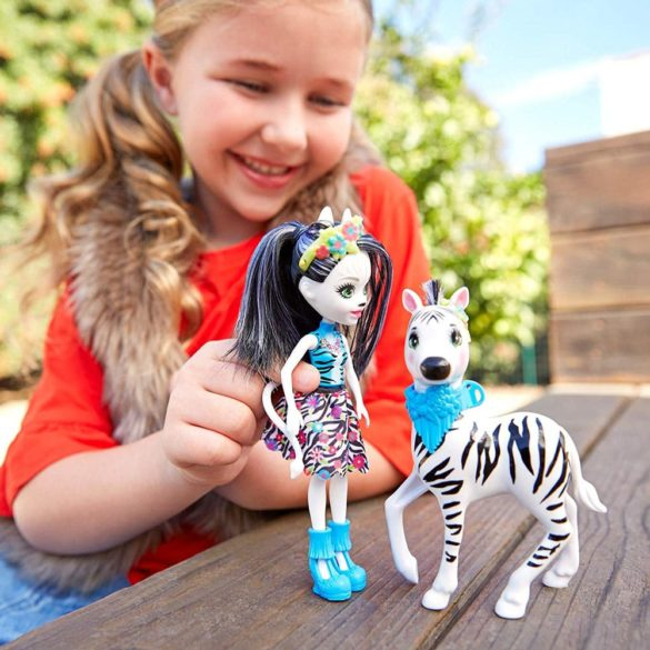 Enchantimals Papusa Zelena Zebra si Figurina Hoofette 7
