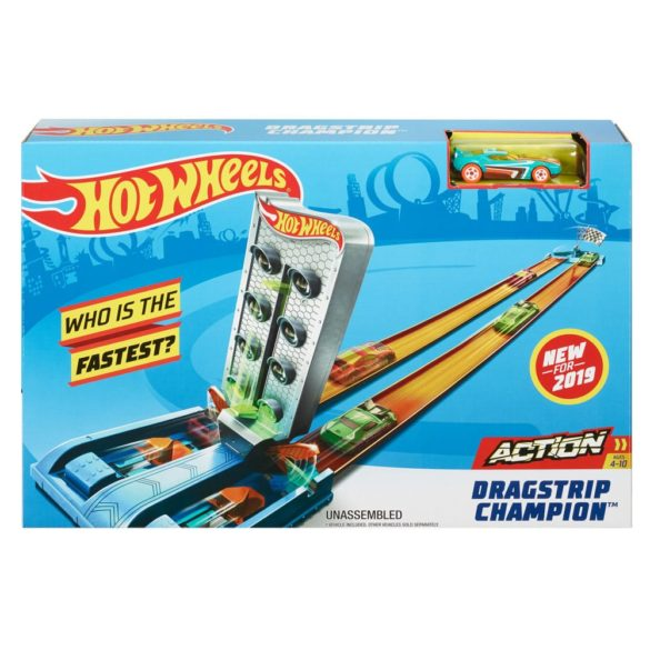 Jucarie Pista Hot Wheels Dragstrip Champion GBF82 Mattel 9