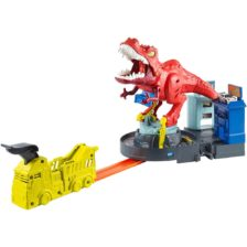Pista Hot Wheels Set de Joaca cu Dinozaurul T-Rex