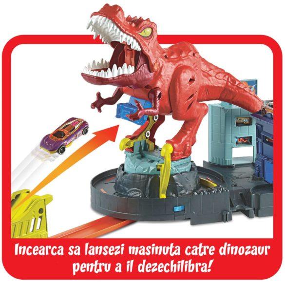Pista Hot Wheels Set de Joaca cu Dinozaurul T Rex 4