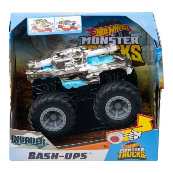Hot Wheels Monster Trucks Colectia Bash Ups Masina Invader 3