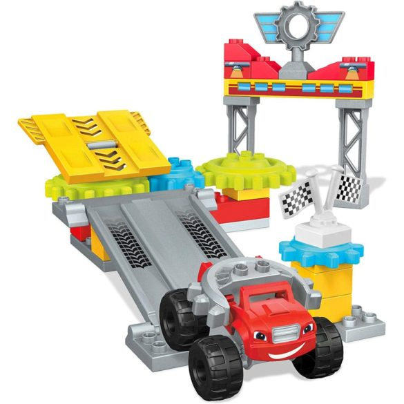 Set de Construit Mega Bloks Blaze si Garajul din Axle City