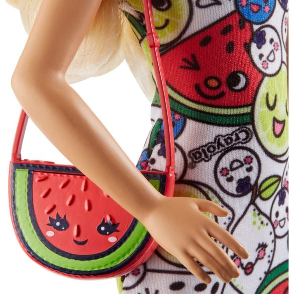Barbie Crayola Papusa Blonda cu Tinute de Colorat 7