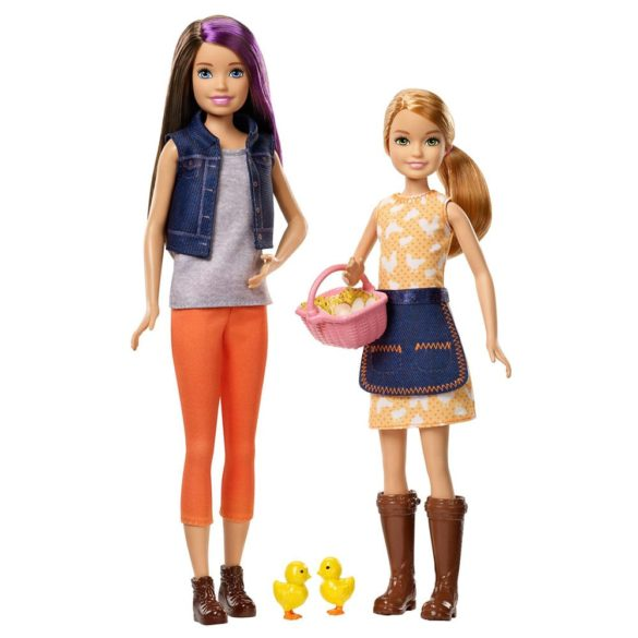 Ferma Barbie Pachet de doua papusi Skipper Stacie