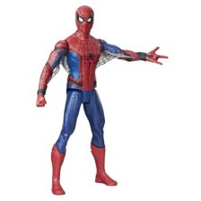 Figurina Electronica Spiderman 30 cm, fraze in Limba Franceza