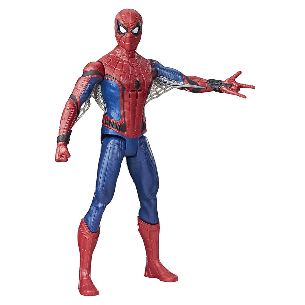 Figurina Electronica Spiderman 30 cm, fraze in Limba Franceza