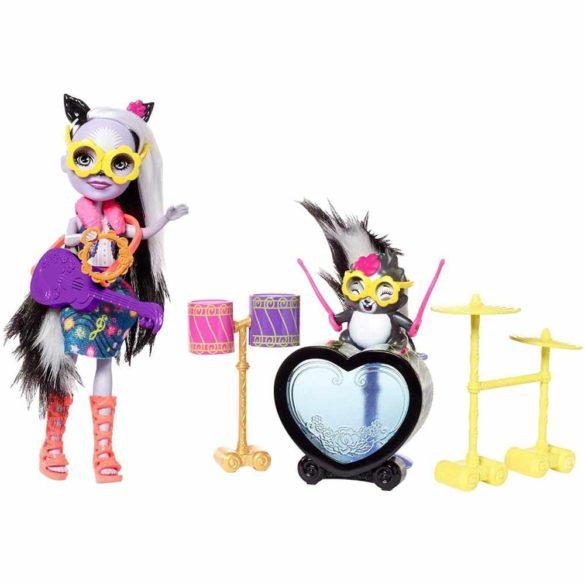 Enchantimals Set de Joaca cu Tobe si Papusa Sage Skunk