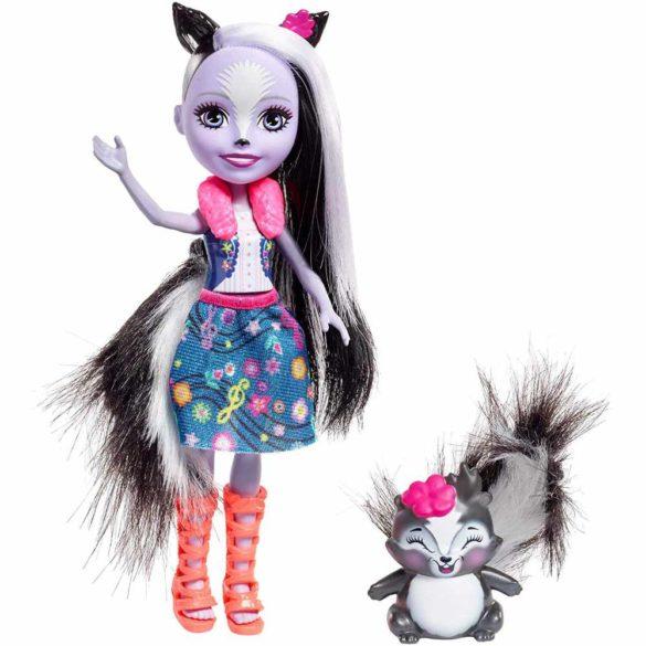 Enchantimals Set de Joaca cu Tobe si Papusa Sage Skunk 2