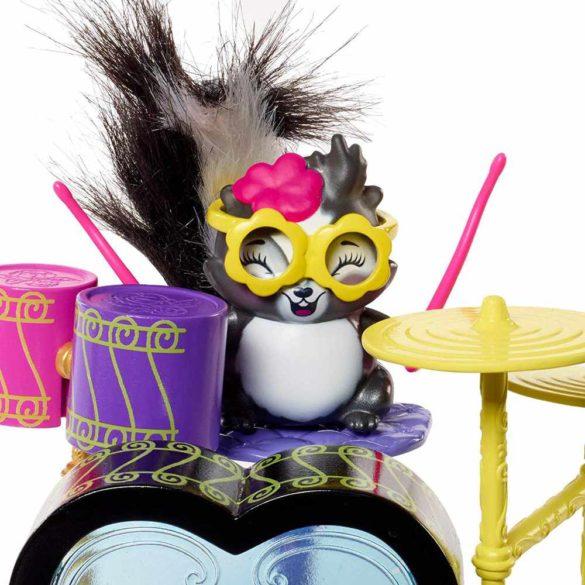 Enchantimals Set de Joaca cu Tobe si Papusa Sage Skunk 5