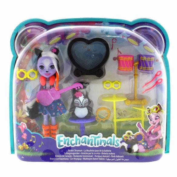 Enchantimals Set de Joaca cu Tobe si Papusa Sage Skunk 7