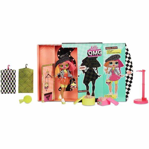 L.O.L Surprise Papusa Fashion OMG Neonlicious cu 20 Surprize 2