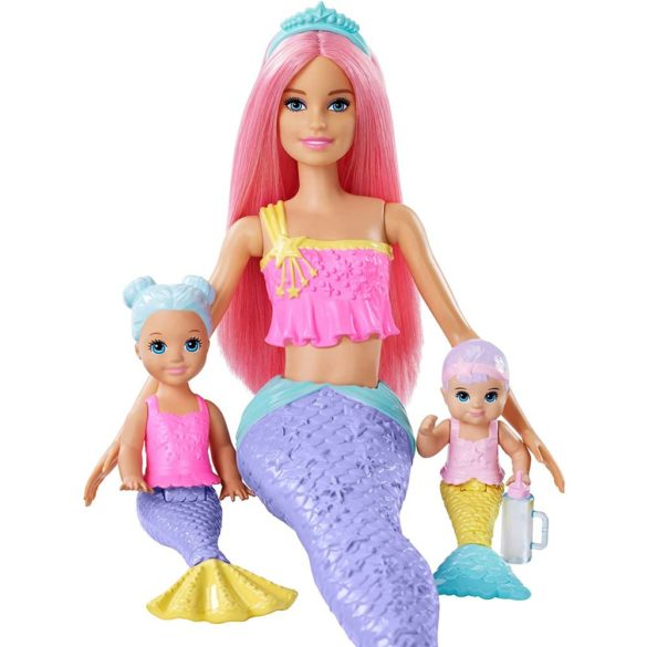 Barbie Dreamtopia Set de Joaca Sirena Barbie si 2 Figurine 4