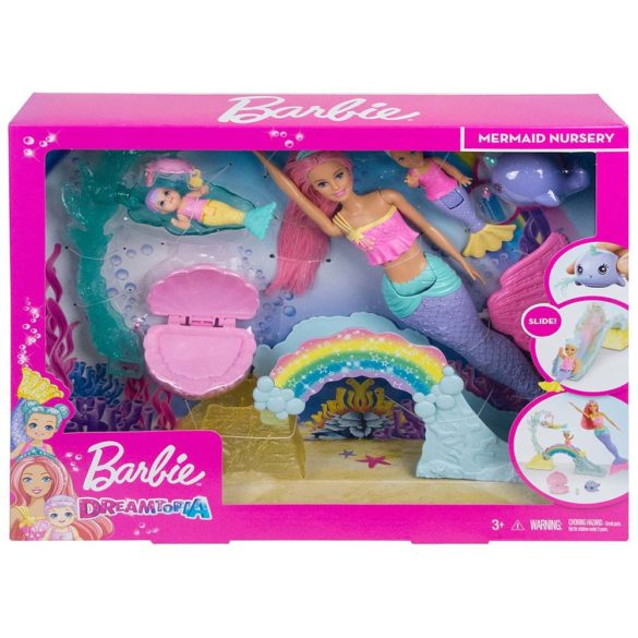 Barbie Dreamtopia Set de Joaca Sirena Barbie si 2 Figurine 8