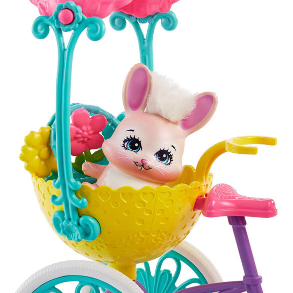 Enchantimals Papusa Bree Bunny si Setul Prieteni pe Bicicleta 5