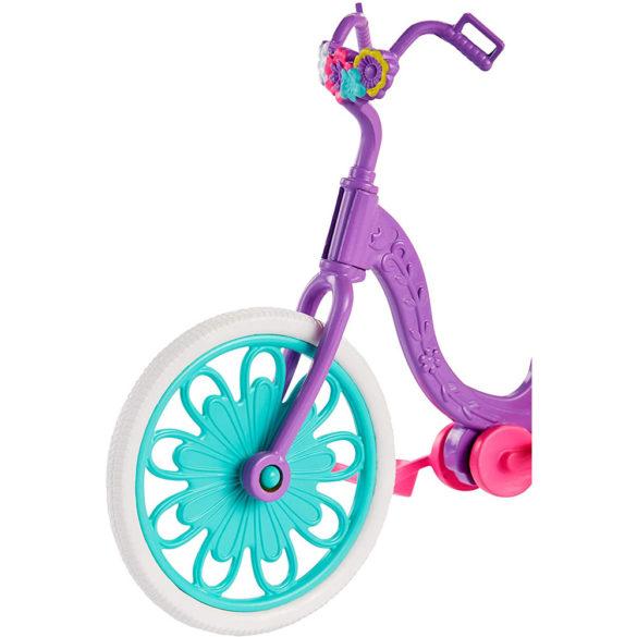 Enchantimals Papusa Bree Bunny si Setul Prieteni pe Bicicleta 6