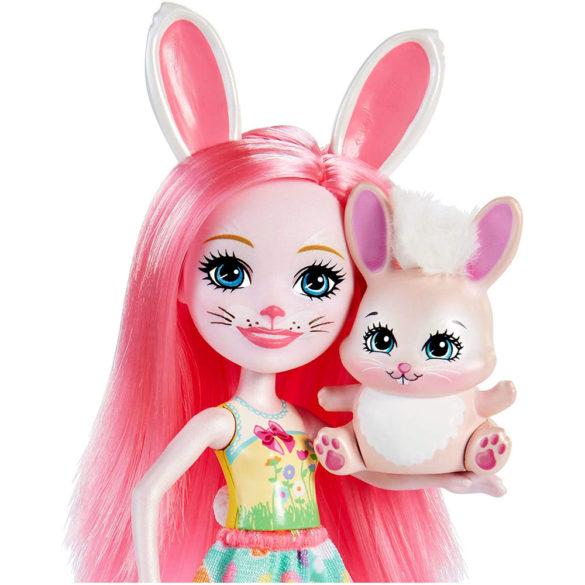 Enchantimals Papusa Bree Bunny si Setul Prieteni pe Bicicleta 7