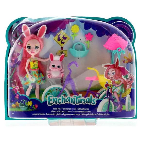 Enchantimals Papusa Bree Bunny si Setul Prieteni pe Bicicleta 8